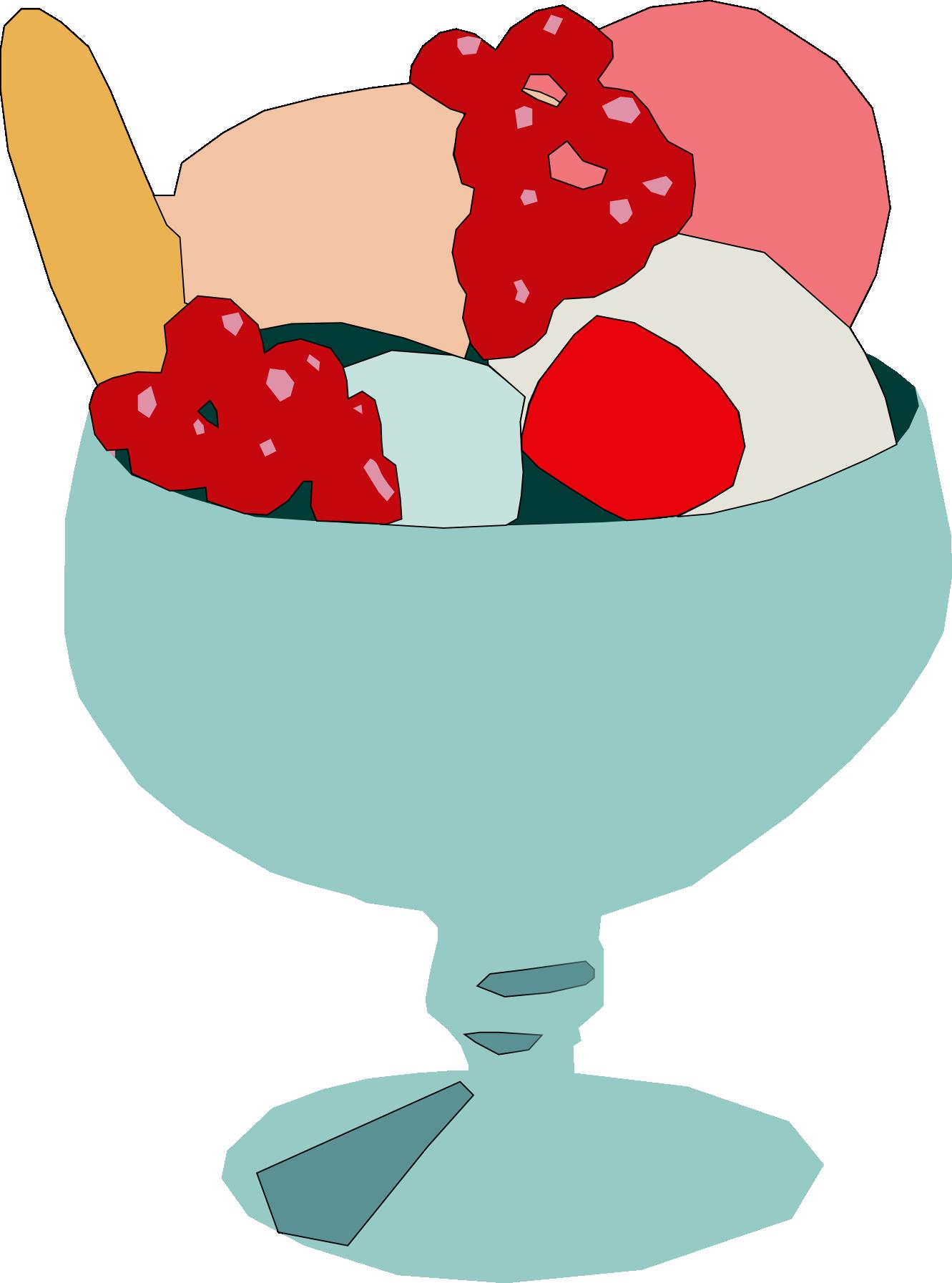 Yogurt clipart animated. Ice cream cup panda