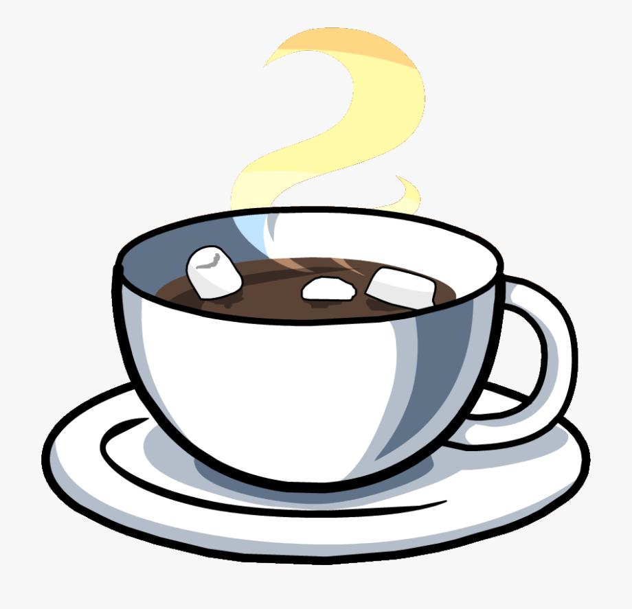 Teacup chocolate cut out. Mug clipart hot drink