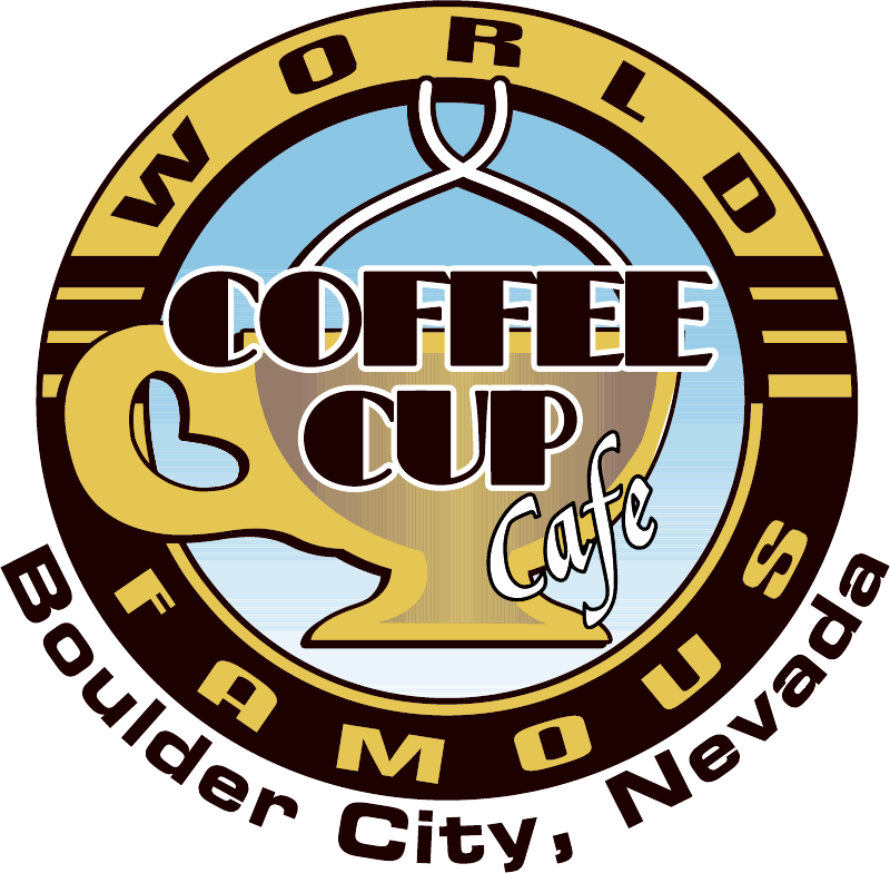 World famous coffee cup. Diner clipart school dinner