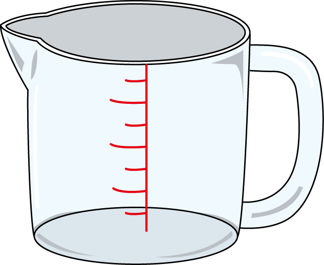 Water clipart mug. Free picture of measuring