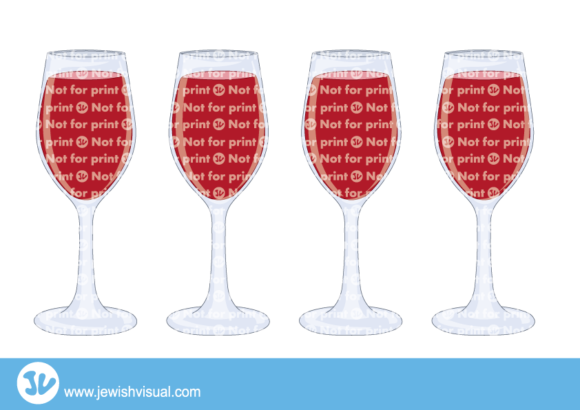Passover clipart transparent. Four cups of jvisual