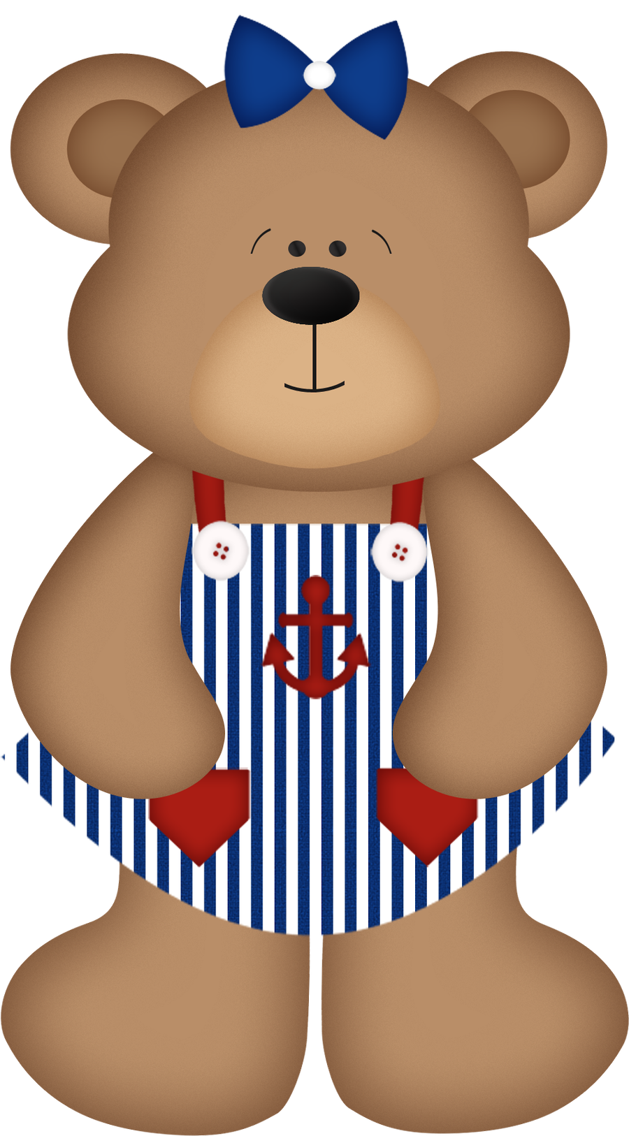 Nautical clipart teddy bear. Girl standing printables pinterest