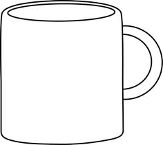 Cups clipart object. Cup black and white