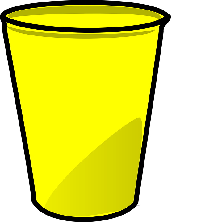 Childrens pencil and in. Cup clipart colored plastic