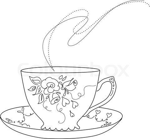 Free of fancy tea. Cups clipart sketch