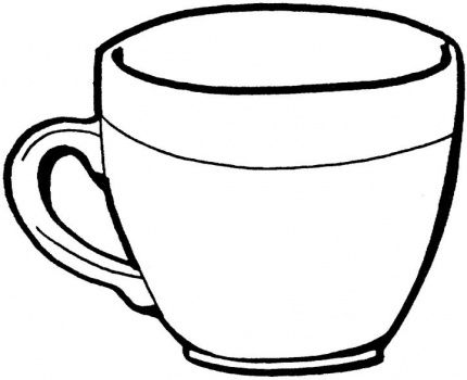 Cups clipart sketch. Vintage tea cup drawing