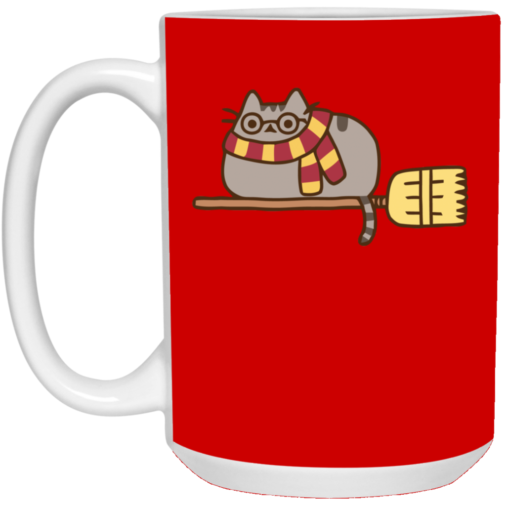 Pusheen harry potter mug. Cup clipart smooth thing