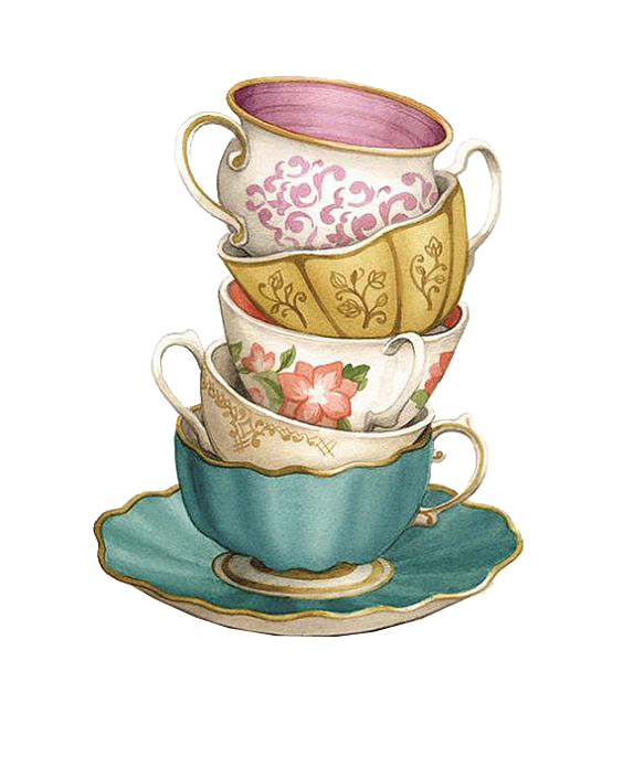 Teacup coffee saucer png. Cups clipart stacked cup