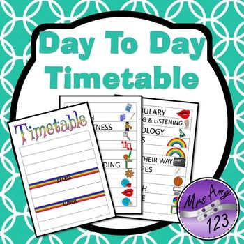 Daily visual timetable for. Curriculum clipart class schedule