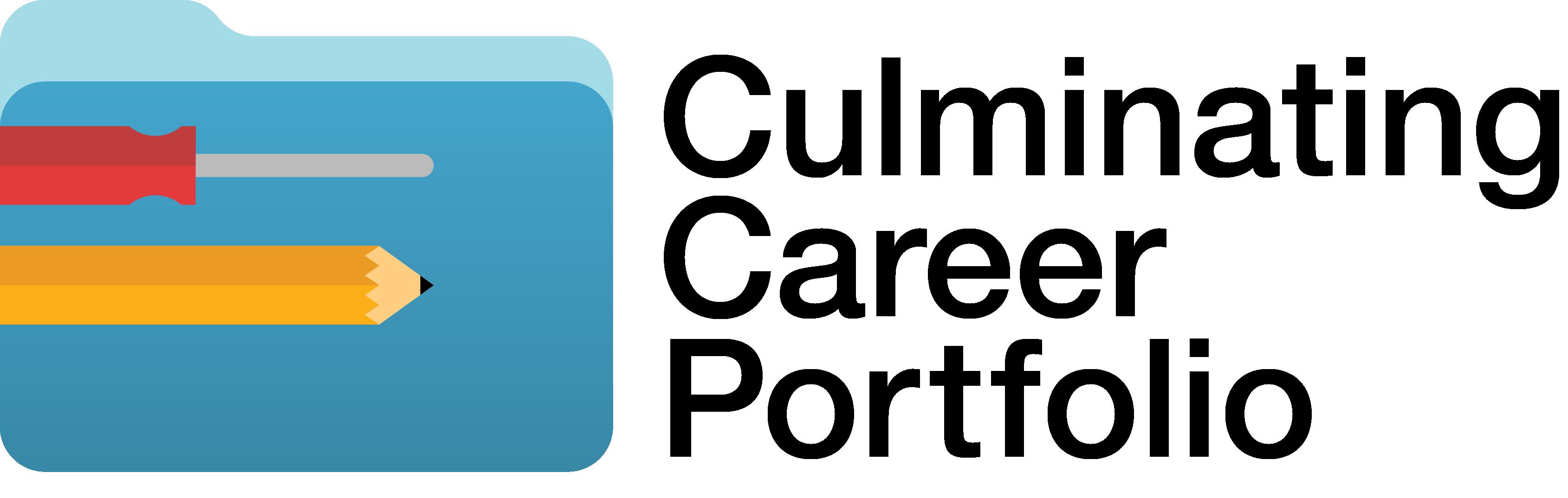 Career logo. English clipart english portfolio