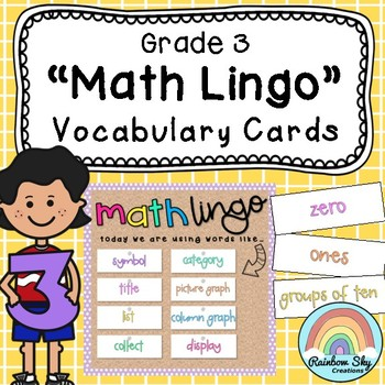 Curriculum clipart dictionary. Grade math vocabulary cards