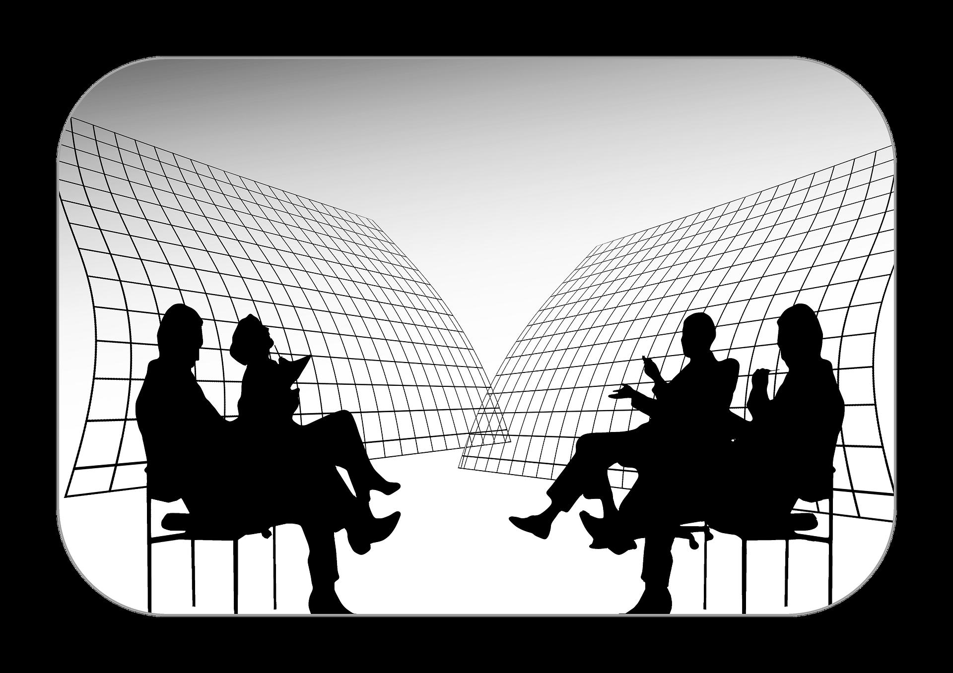Discussion clipart training institute. Group course educba