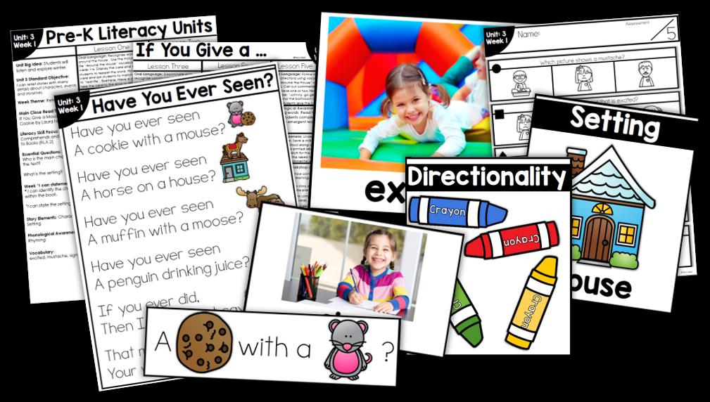 Pre k unit explore. Curriculum clipart literacy