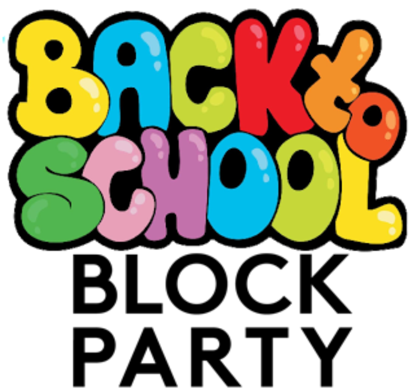 Back to school party. Preschool clipart block