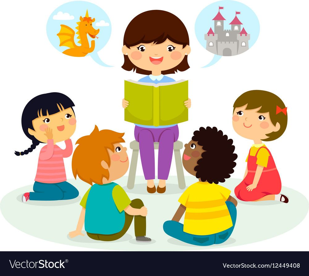 Storytime clipart bible time. Story royalty free vector