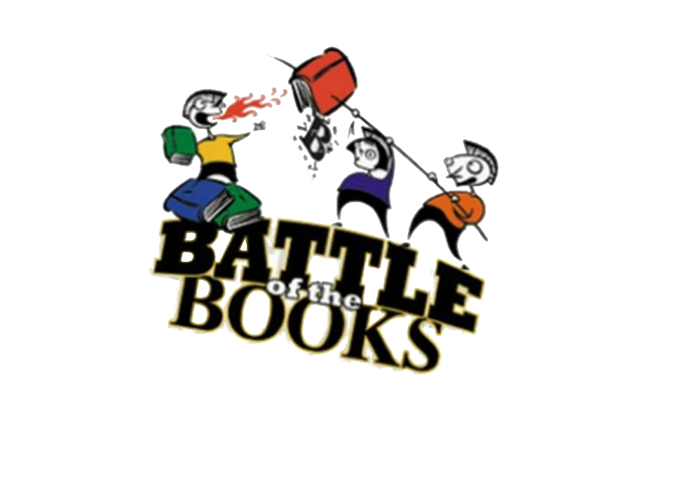 Battle of the books. Receptionist clipart office stress