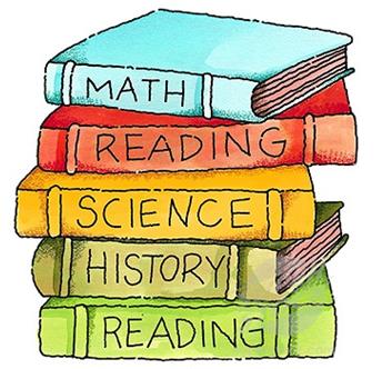 Curriculum clipart teacher. School books clip art