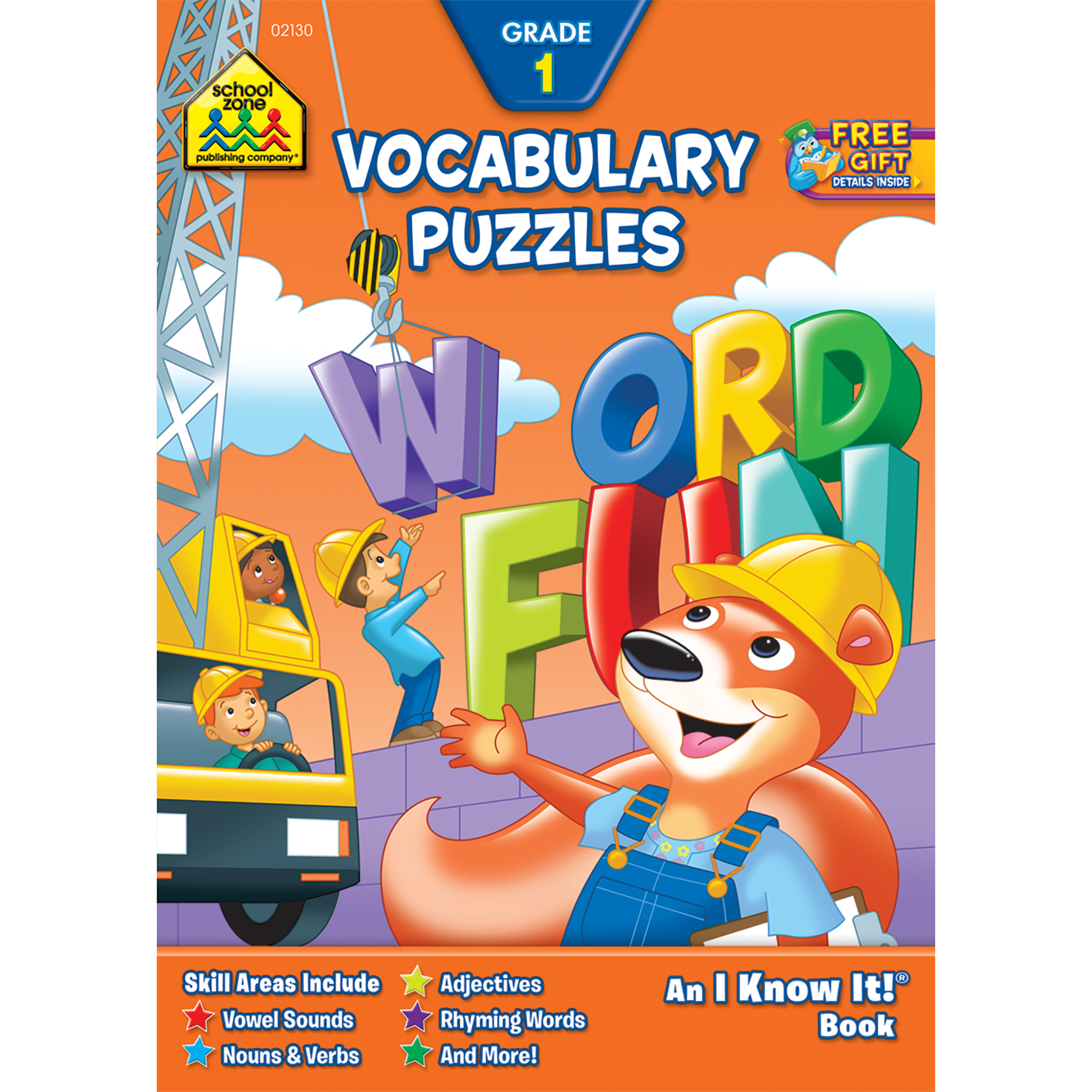 Vocabulary puzzles workbook builds. Young clipart adjective word