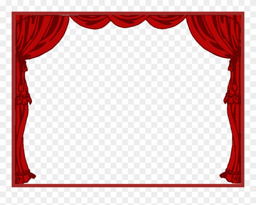 Curtains clipart. Curtain left theater drapes