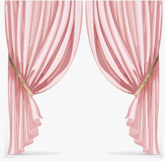 Curtain clipart. Pink curtains ply png