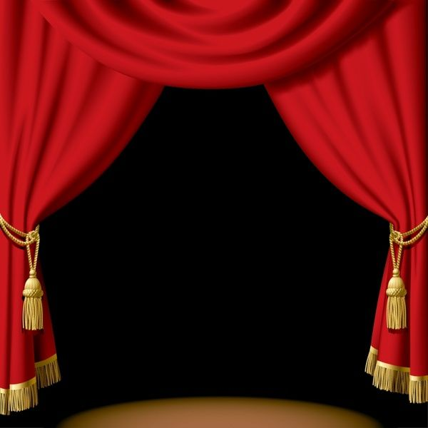 Ideas red theater stage. Curtains clipart dinner theatre
