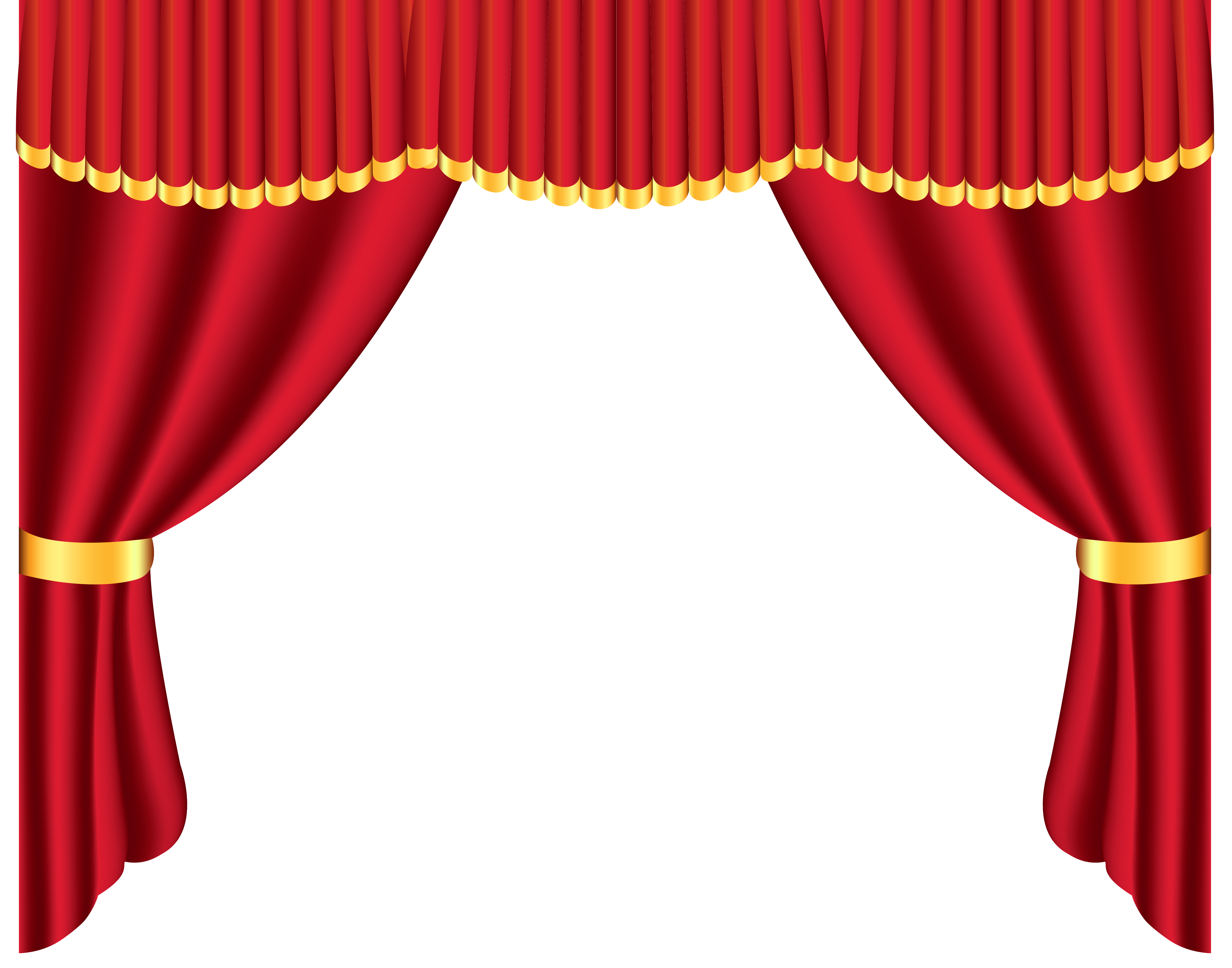 Transparent red curtain png. Curtains clipart