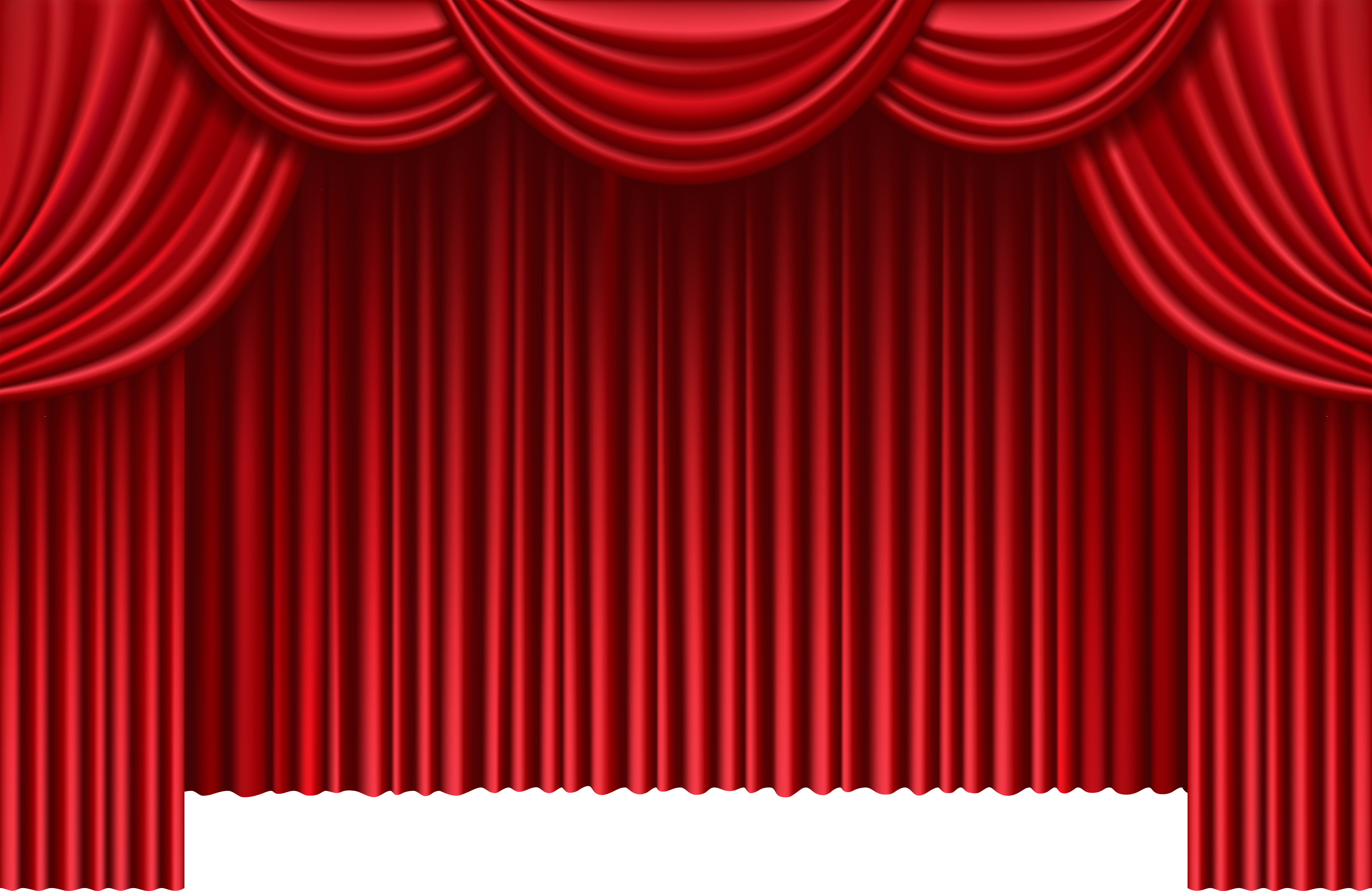 Red theater curtains png. Curtain clipart