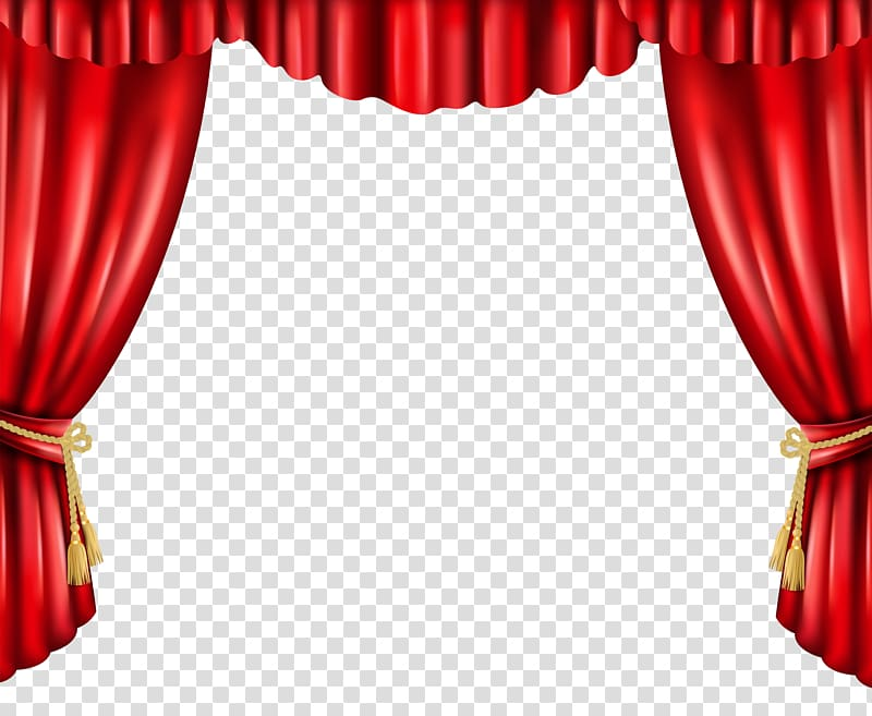 Curtain window animated red. Curtains clipart dinner theatre