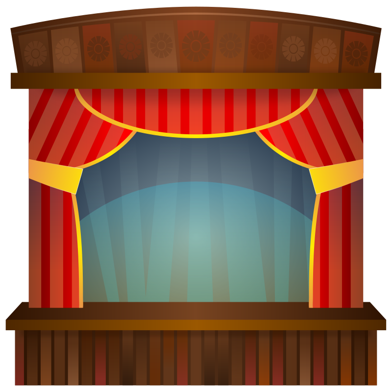 Curtains clipart animated.  stage curtain man