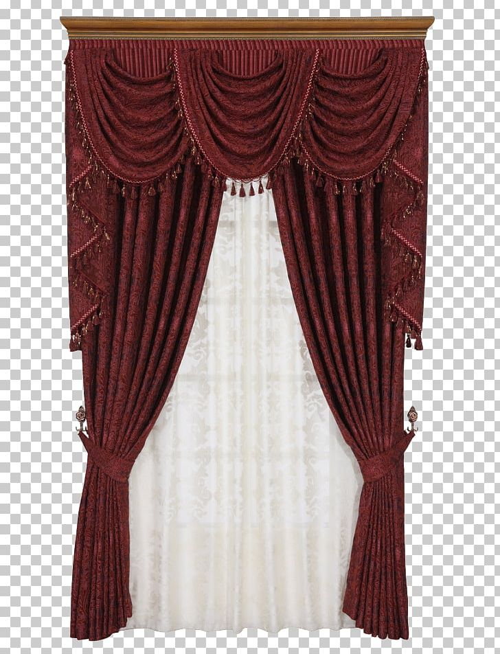 Window red png curtains. Curtain clipart bedroom curtain