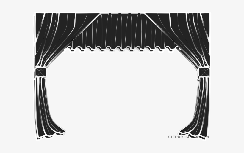 Free curtain download clip. Curtains clipart black and white