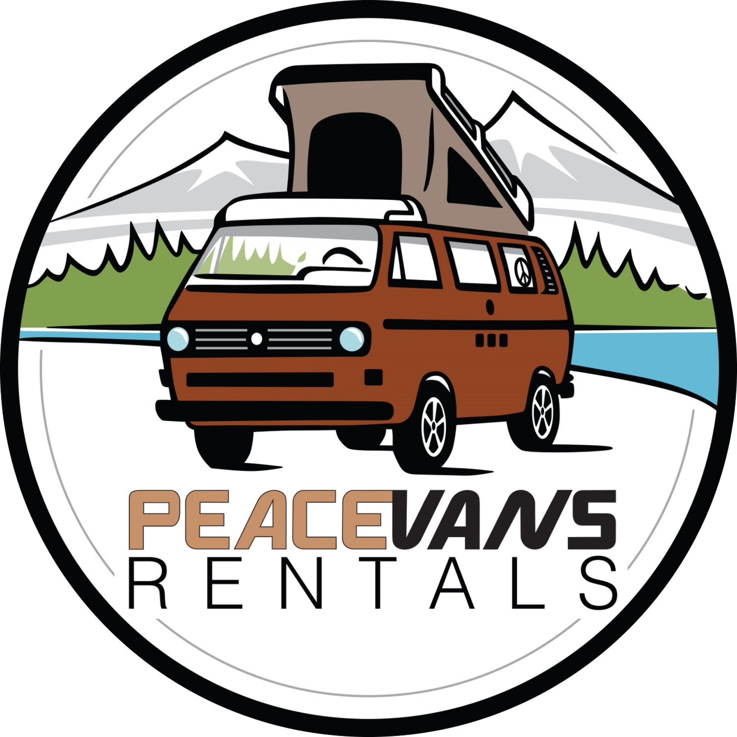 Vw camper van rental. Minivan clipart mini bus