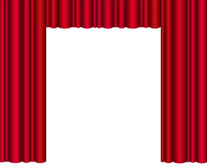 Theater gopelling net red. Curtains clipart empty stage