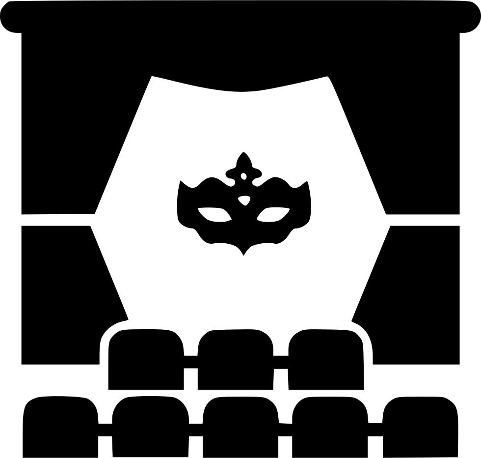 Curtains clipart svg. Actor cinema curtain mask