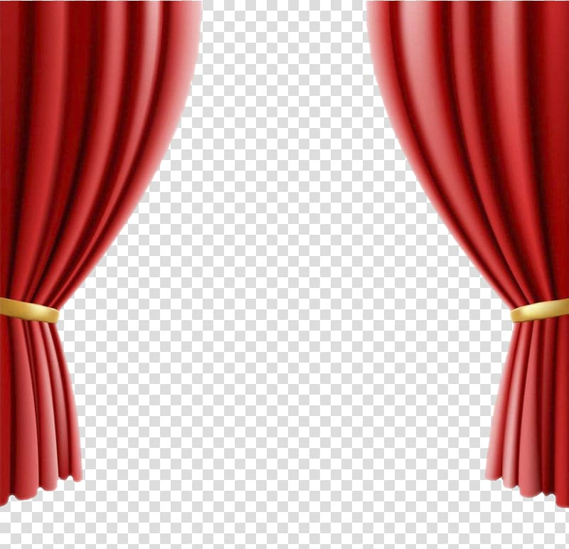 Red curtain art theater. Curtains clipart real