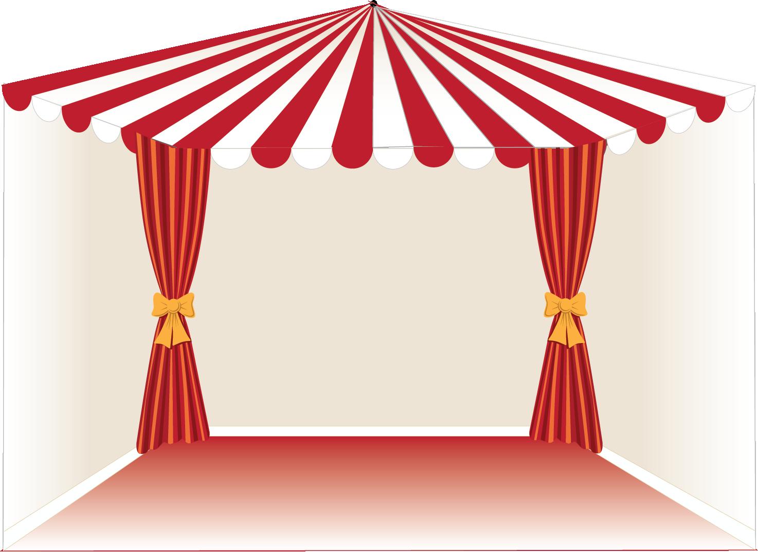 Climbing mini tent diy. Curtain clipart circus
