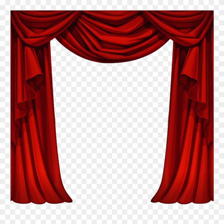Cortina cortinas fabric tela. Curtains clipart cloth