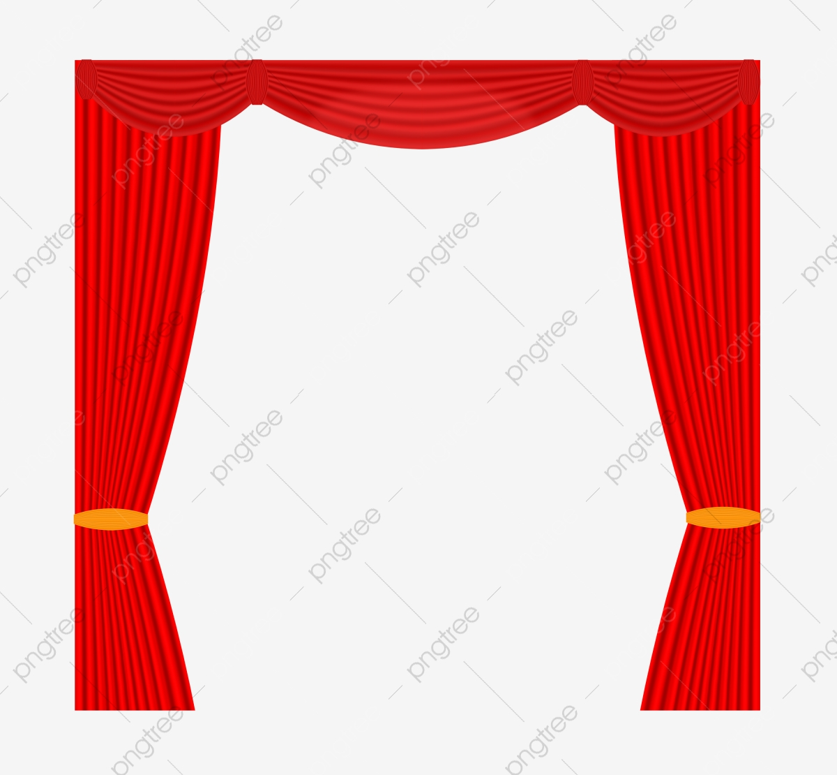 Curtains clipart cloth. Hand drawn curtain stage