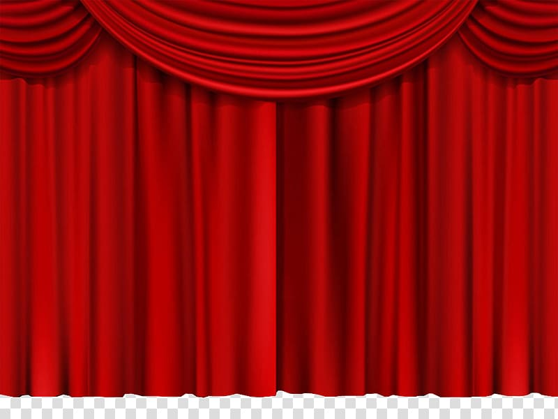 Red theater drapes and. Curtain clipart cloth