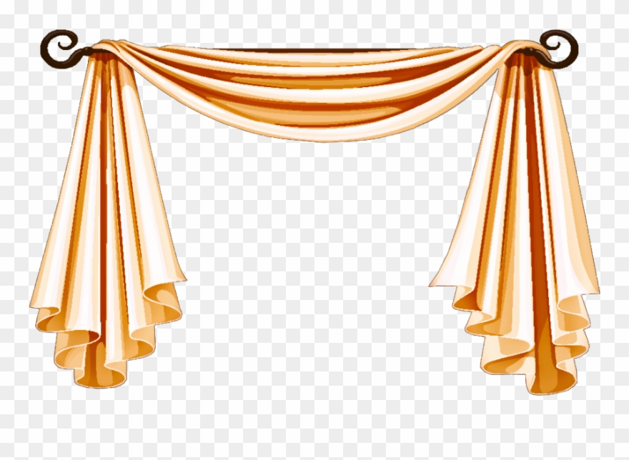 Curtains clipart cloth. Curtain golden png hd