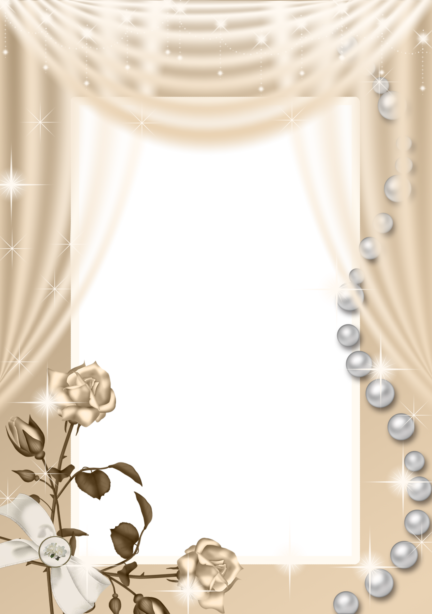 Png roses frame gallery. Curtain clipart cream