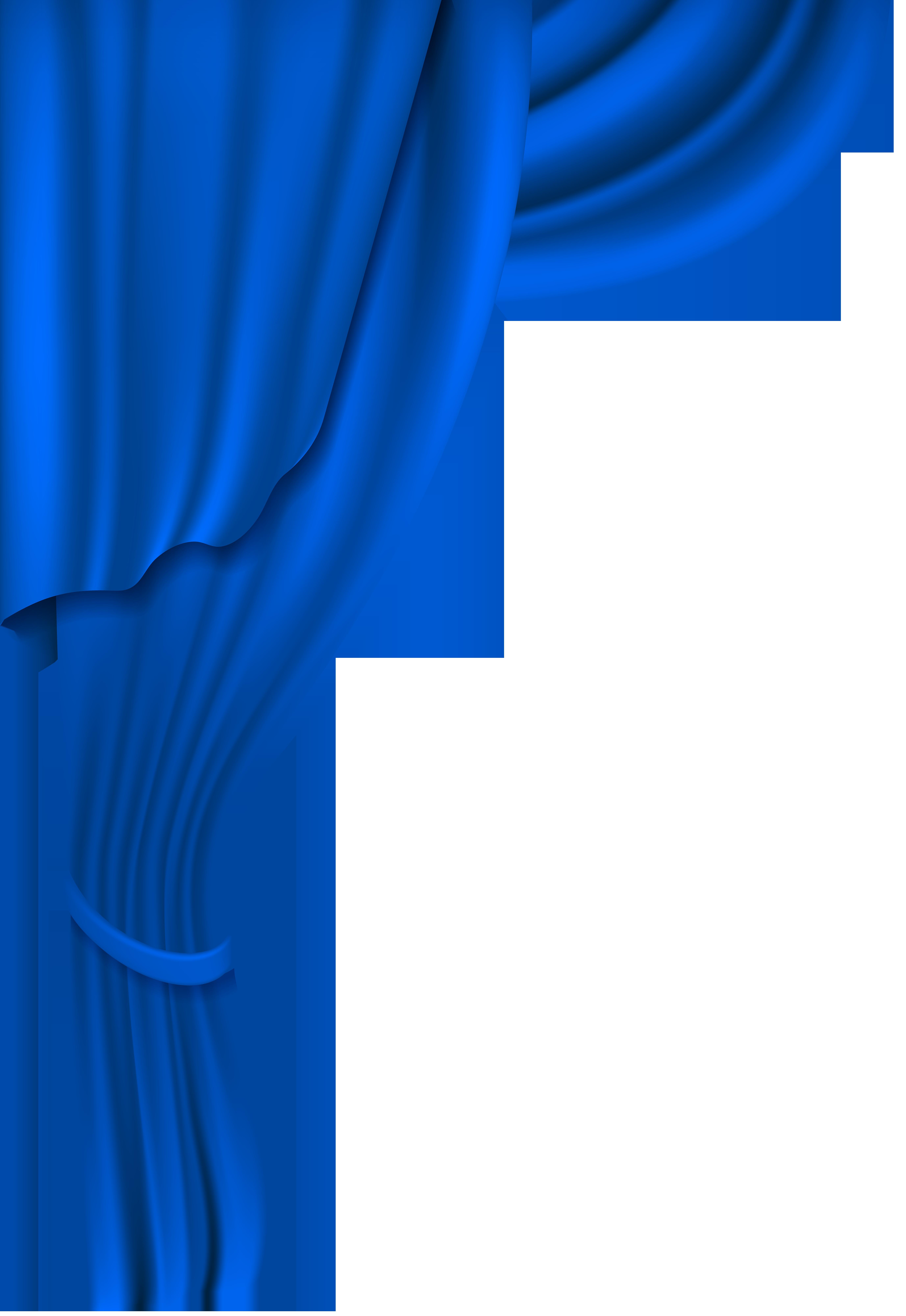 Curtain clipart cream. Blue transparent clip art