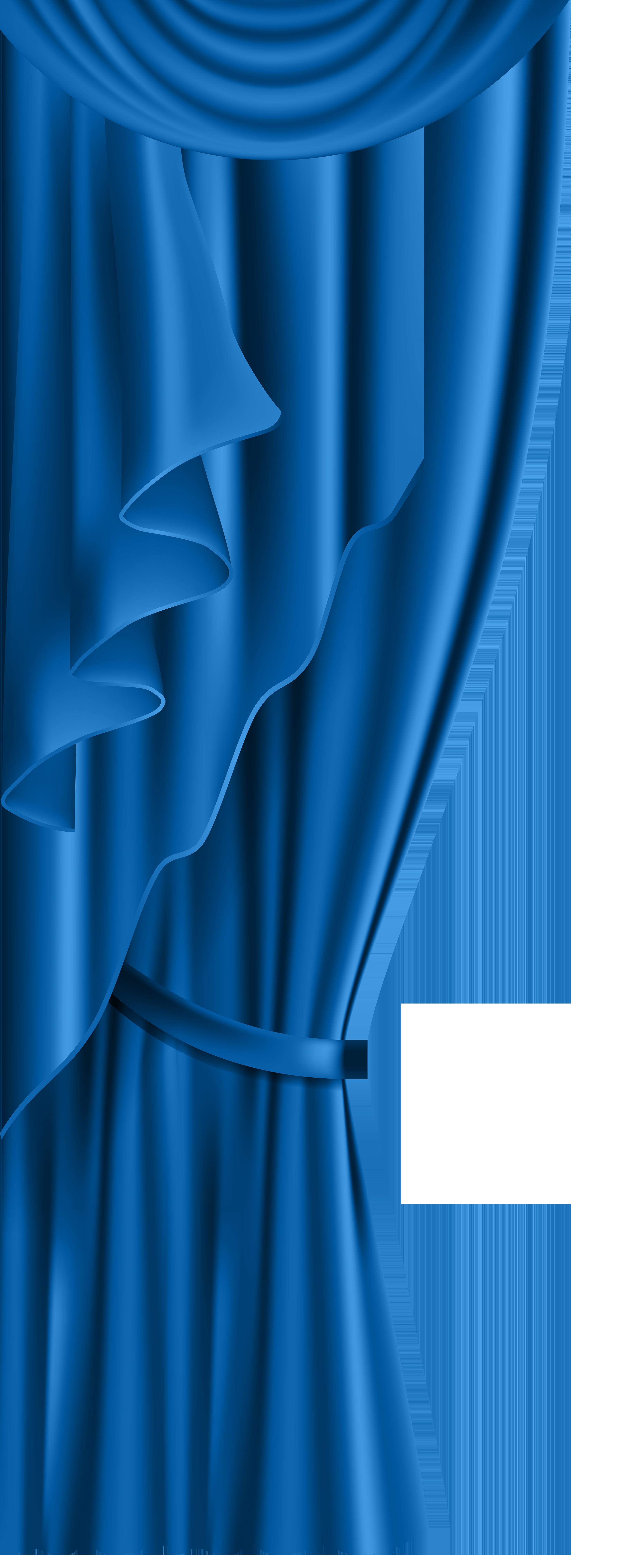 Blue transparent png clip. Curtain clipart cream