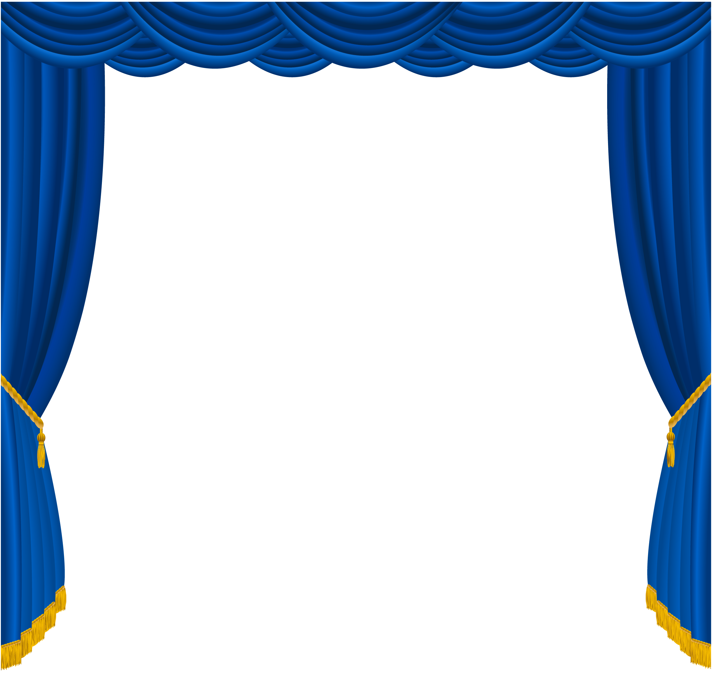 Blue theatre curtain gopelling. Curtains clipart flower