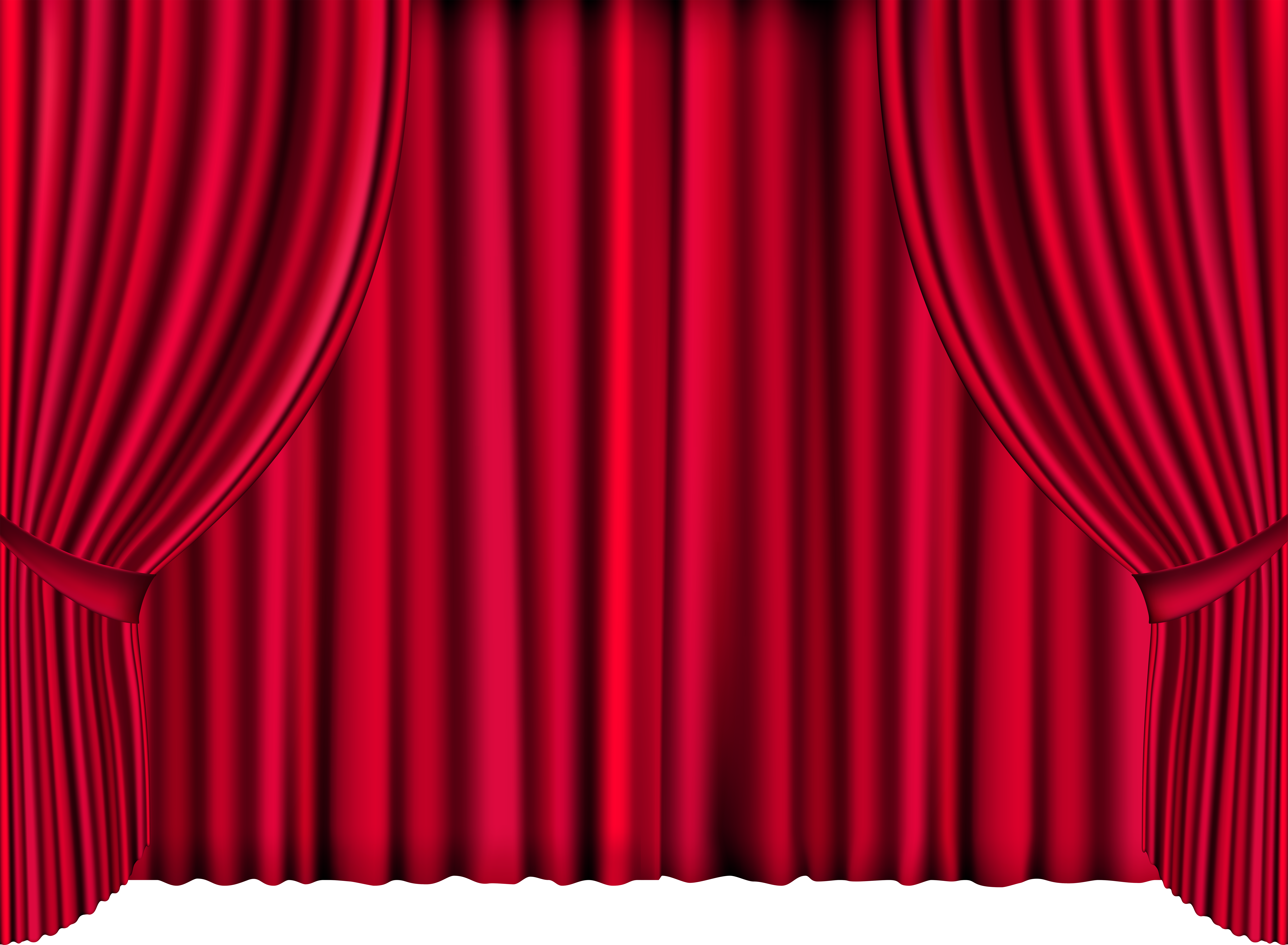 Curtain clipart cream. Red curtains png clip
