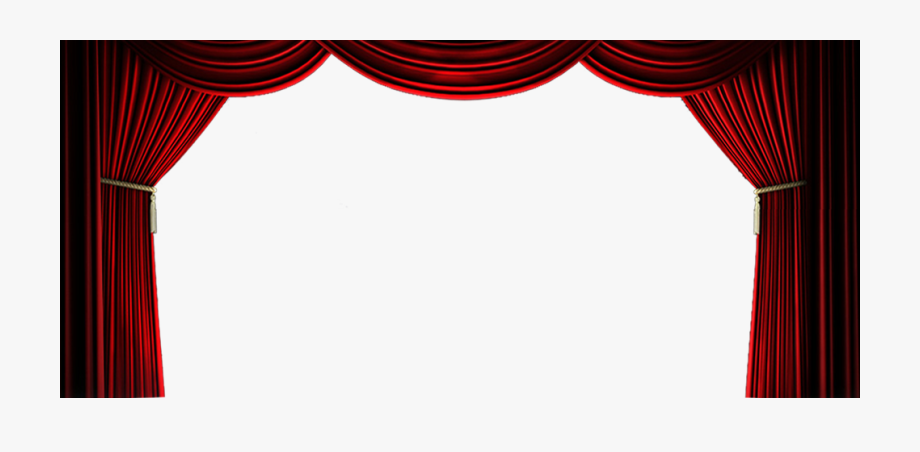 Banner freeuse stock red. Curtain clipart curtain raiser