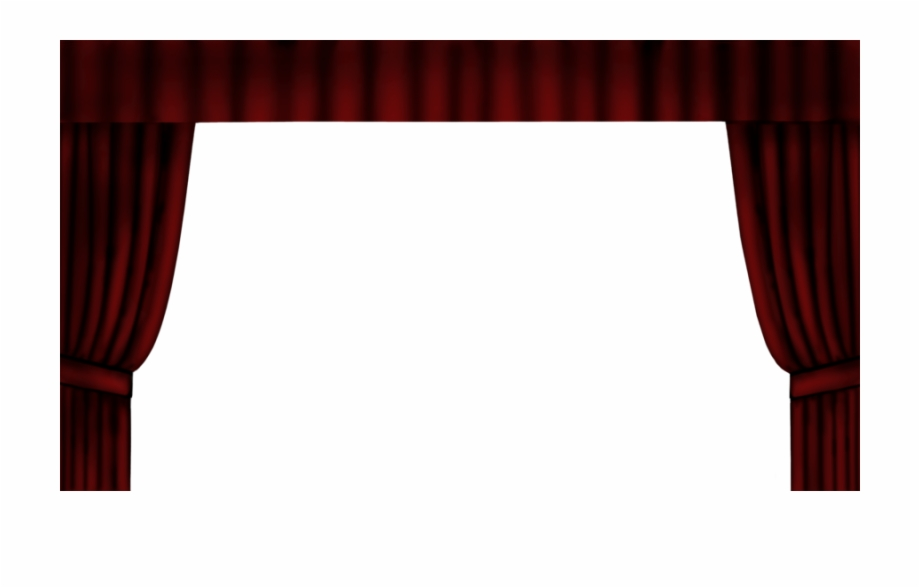 Red transparency light by. Curtains clipart dinner theatre