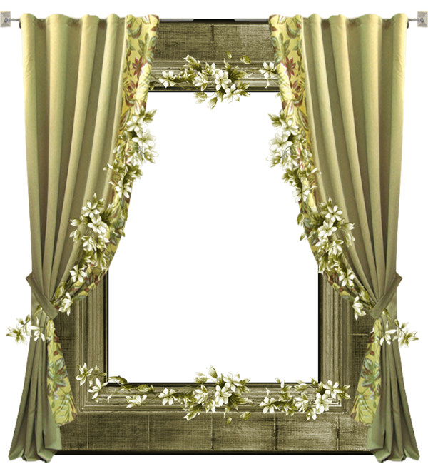 Curtains clipart wedding curtain. Green transparent png frame