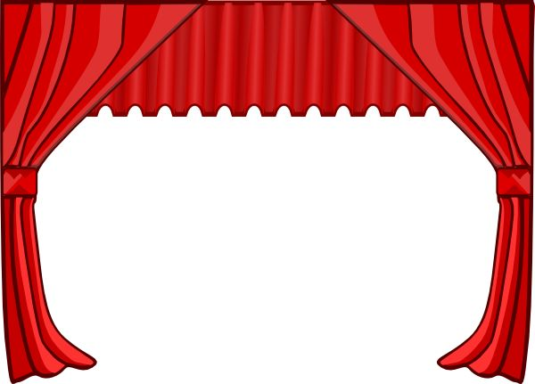 Curtains clipart dinner theatre. Theater clip art at