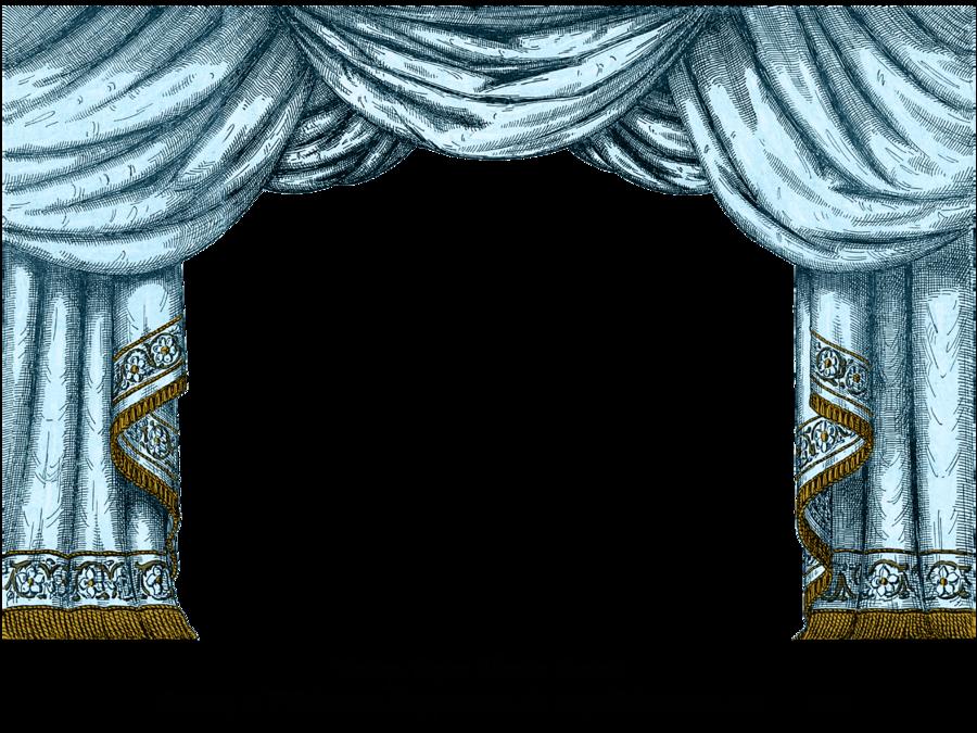 Aqua paper theater curtain. Curtains clipart door